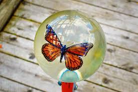 Presse papier vlinder in giethars