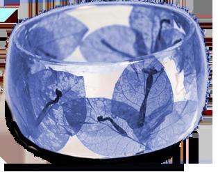 Blauwe armband van giethars