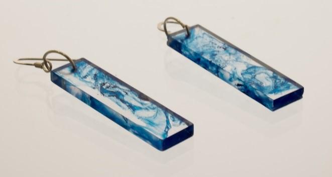 Blauwe oorbellen van giethars